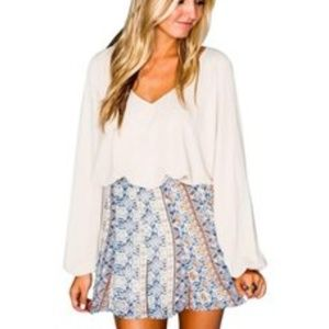 Show me your Mumu floral side zip linned skirt M